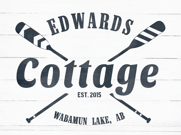 close up look at the Cottage personalized print