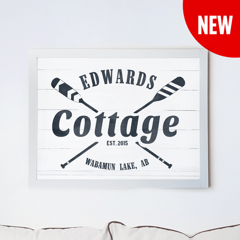 Cottage personalized print