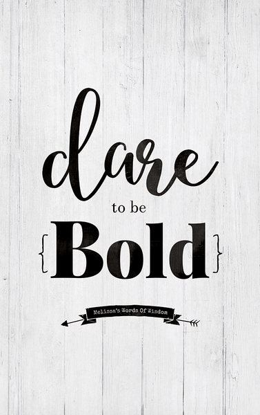 close up preview of the Dare To Be Bold print