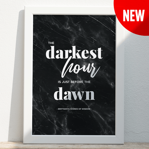 Dawn personalized print