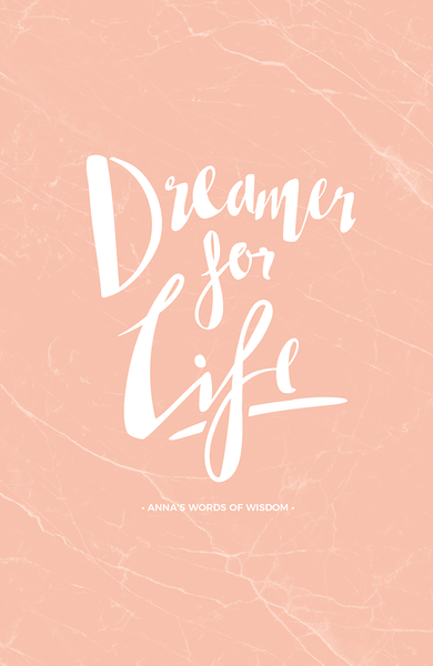 Dreamer Personalized Print in blush marble