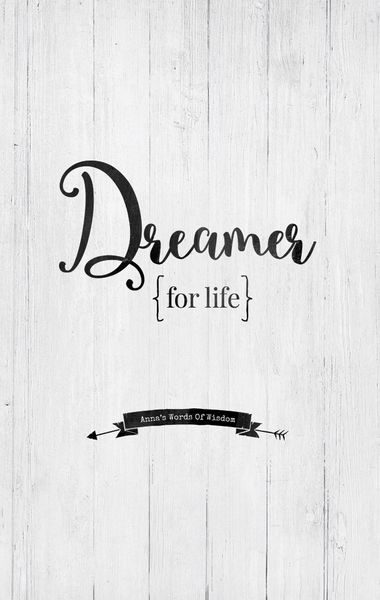 Close up view of the Dreamer For Life personalized print