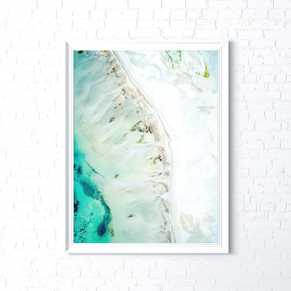 Ebb print in a white frame