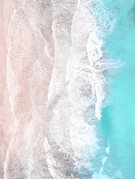 Expansion - an aerial beach photo in subtle aqua and sand tones
