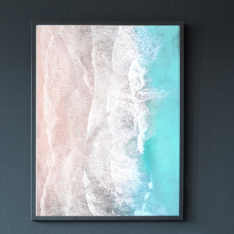 Expansion - aerial coastal photo poster