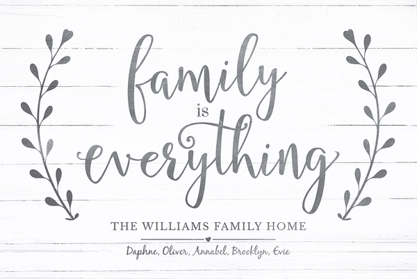 Closer look at the Family Is Everything print