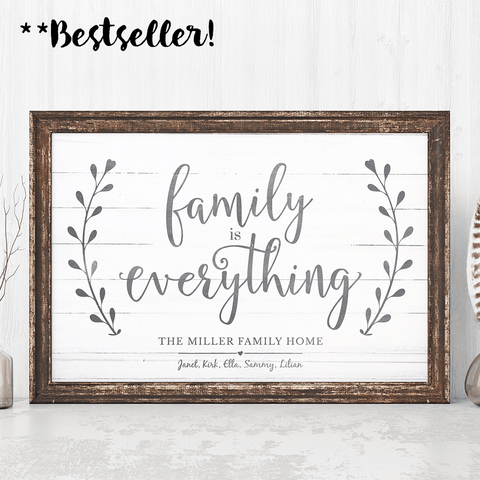 Family Is Everything personalized print - bestselling print