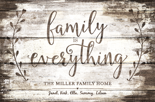 a closer look at the Family Is Everything print
