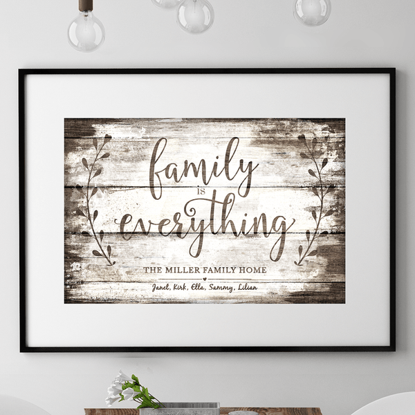 Family Is Everything Vintage personalized print