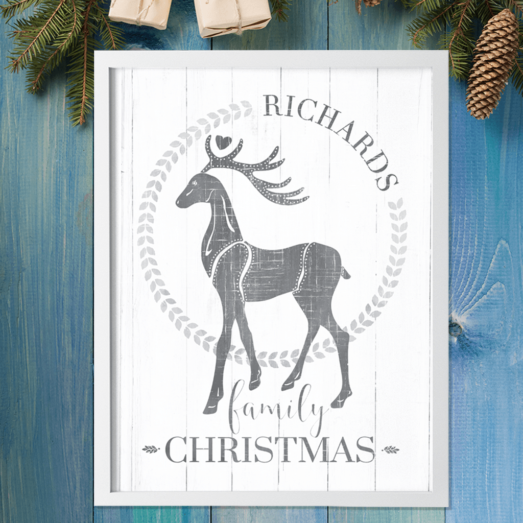 rustic holiday themed personalized print