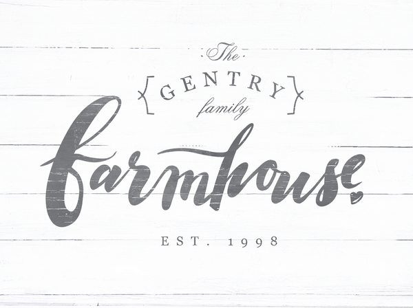 Closer look at the Farmhouse personalized print