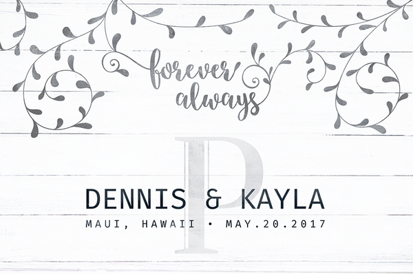 Floral Personalized Print