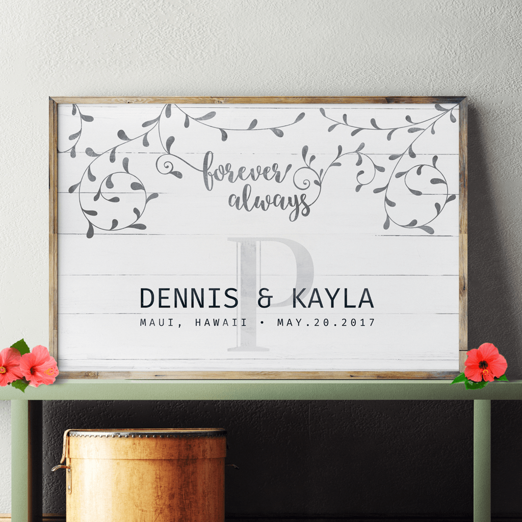 Floral Wedding personalized print