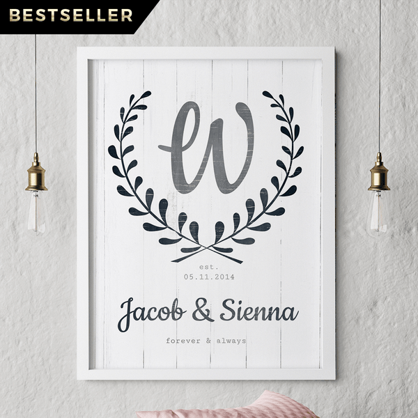 Forever & Always personalized print