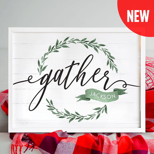 Gather - Greenery Personalized Print