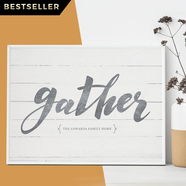 gather personalized print - wall art for fall