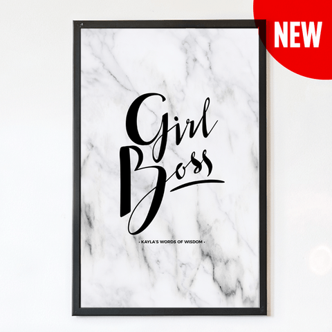 Girl Boss Personalized Print