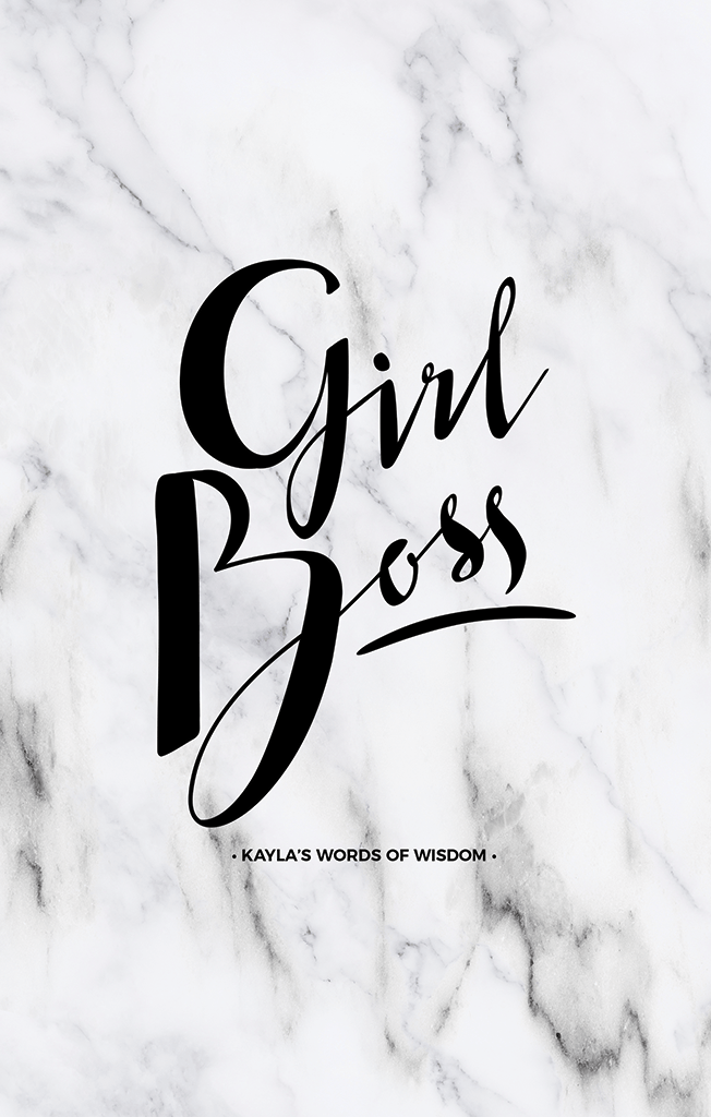 Girl Boss Personalized Print in white marble