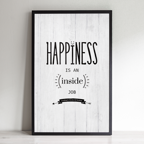 Happiness Personalized Print