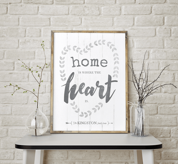 Heart Wreath Personalized Print