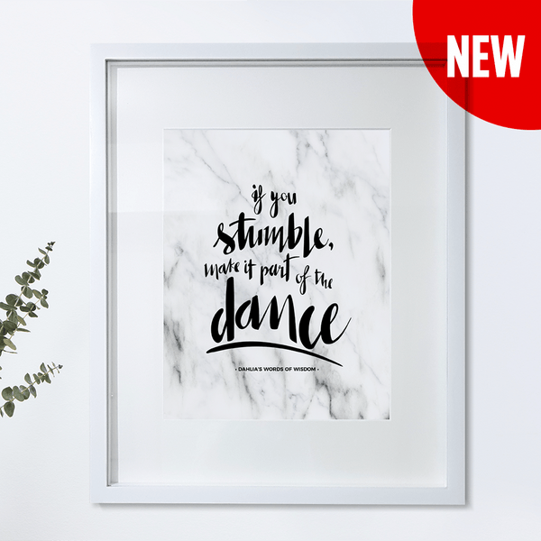 If You Stumble Personalized Print
