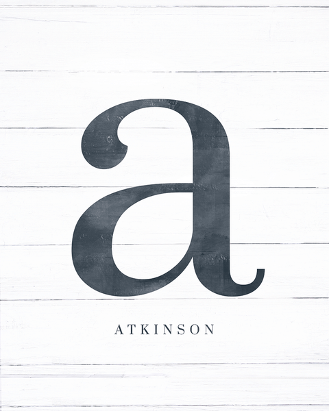 "Initial Adore Personalized Print - showcasing letter ""a"""