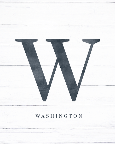 "Initial Adore Personalized Print - showcasing letter ""w"""