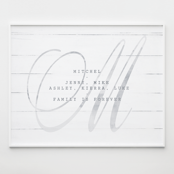 Initial Forever Personalized Print