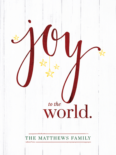 close up of the Joy To The World - Color - Personalized Print