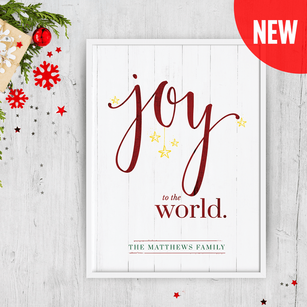 Joy To The World - Color - Personalized Print