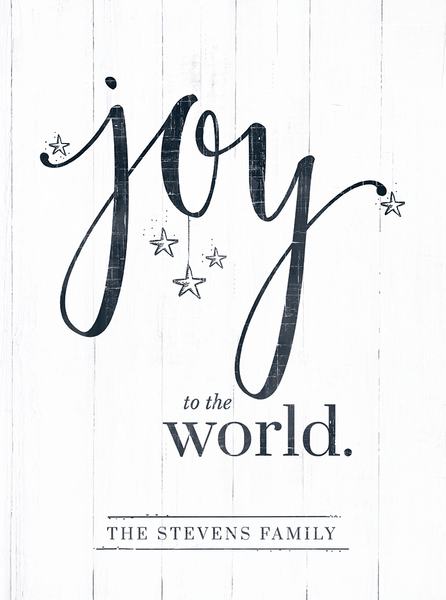 close up look at the Joy To The World Personalized Print
