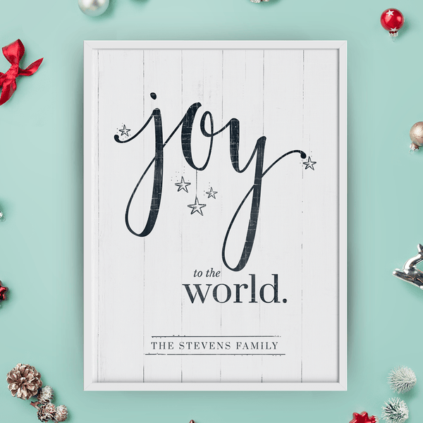 Joy To The World Personalized Print