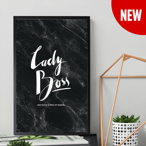 Lady Boss Personalized Print