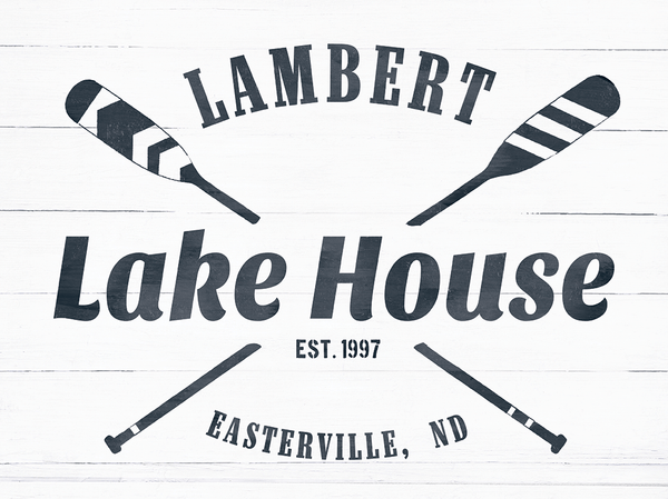 close up look at the Lake House personalized print