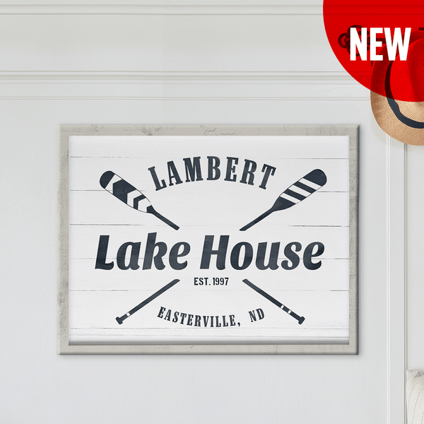 Lake House personalized print