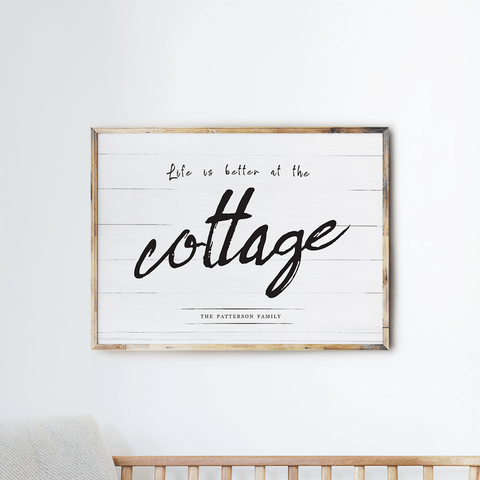 Life At The Cottage personalized print