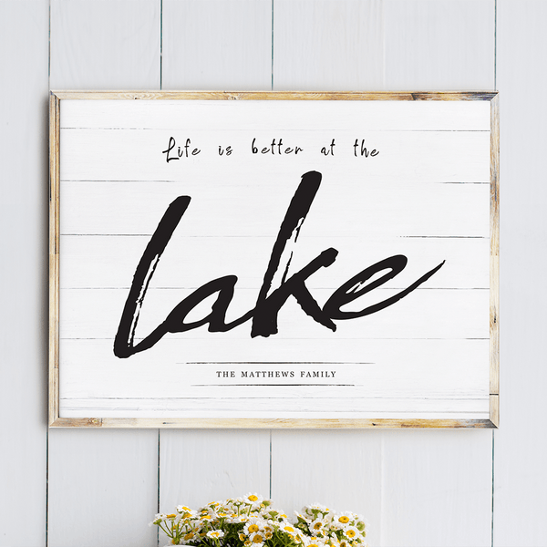 Life At The Lake personalized print