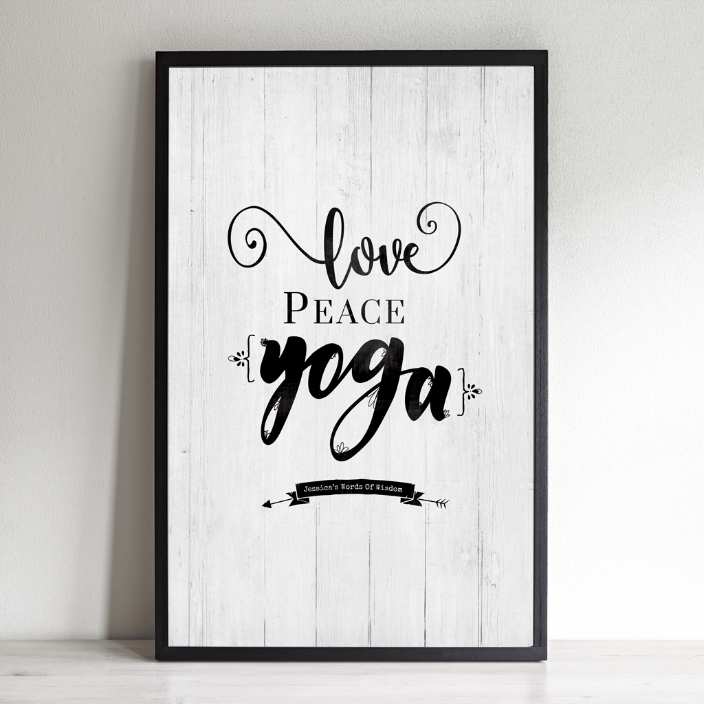 Love Peace Yoga personalized print
