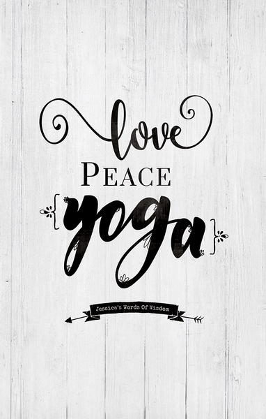 detail preview of the Love Peace Yoga print