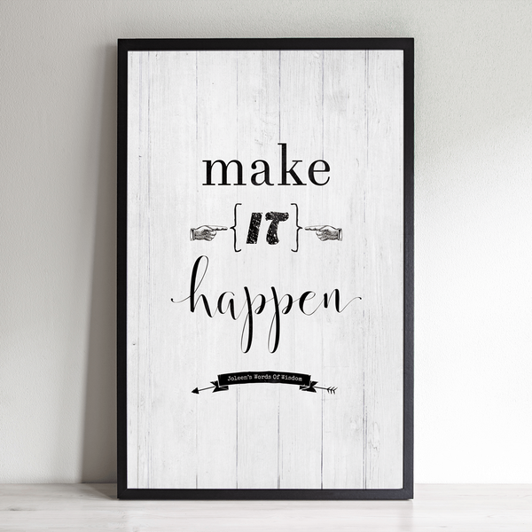Make It Happen inspirational personalized print
