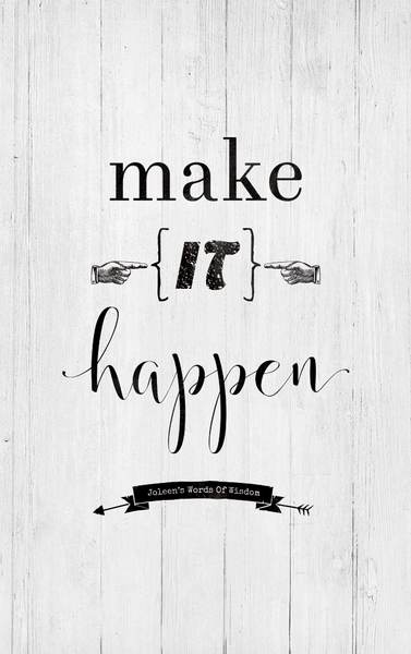 Closer preview of the Make It Happen personalized print
