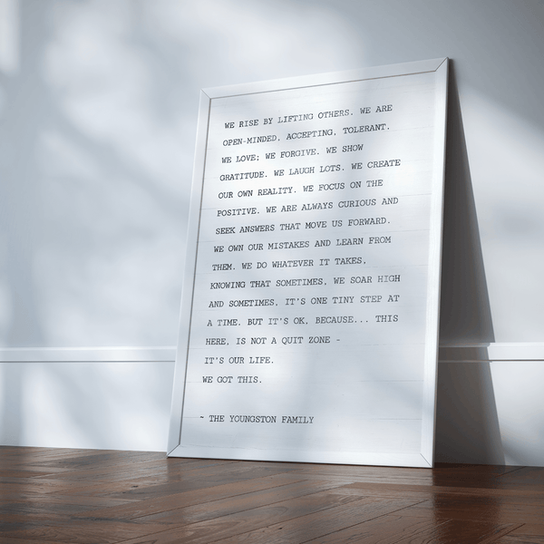 A statement piece - The Family Manifesto Personalized Print