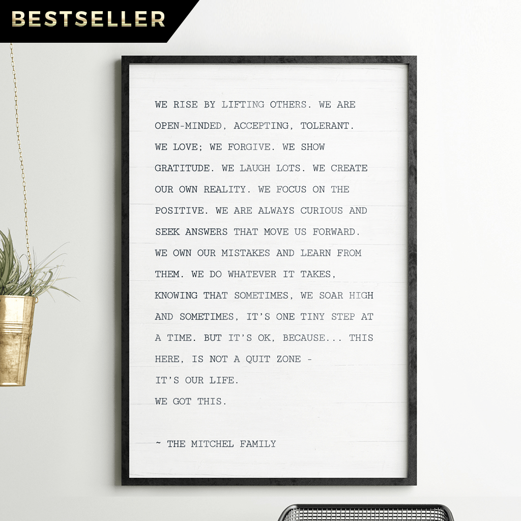 The Family Manifesto personalized print
