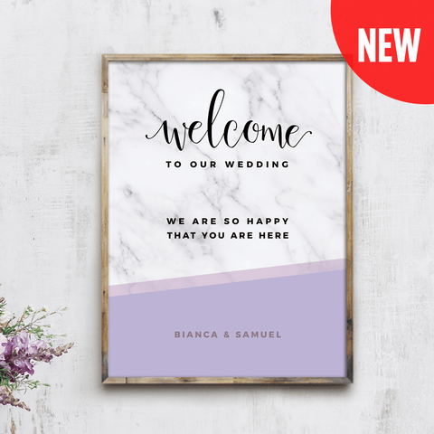MarbleKlass - Lilacs Personalized Wedding Print
