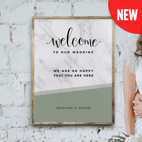 MarbleKlass - Olive Personalized Wedding Print