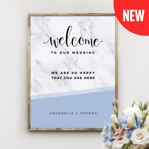 MarbleKlass - Sky Personalized Wedding Print