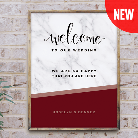 MarbleKlass - Wine Personalized Wedding Print