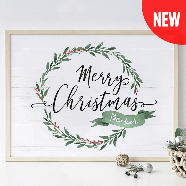 Merry Brush Personalized Print