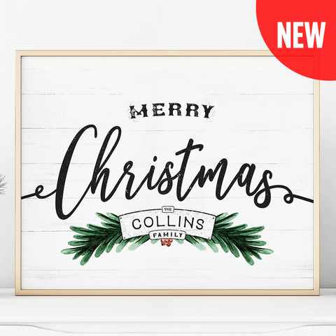 Merry Christmas Personalized Print