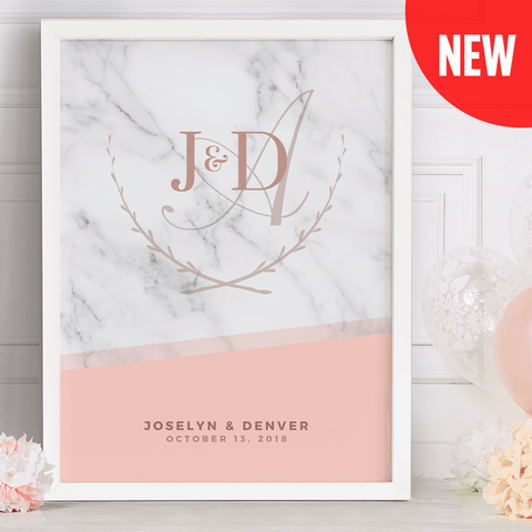 MK Blush Wedding Personalized Print